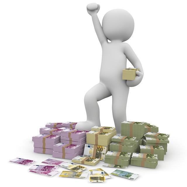panáček, balíčky peněz, vítězství