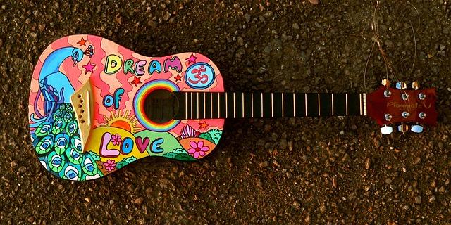 malované kytara