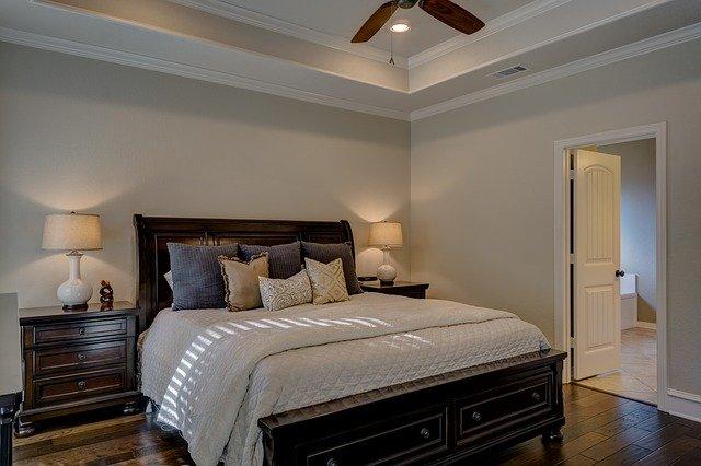 luxusní ložnice v béžové
