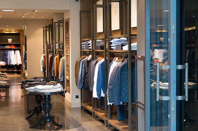 obchod s pánským oblečením