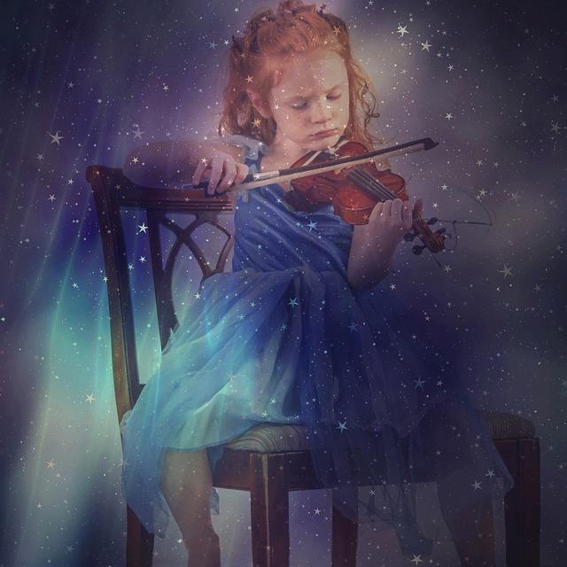 holčička a housle