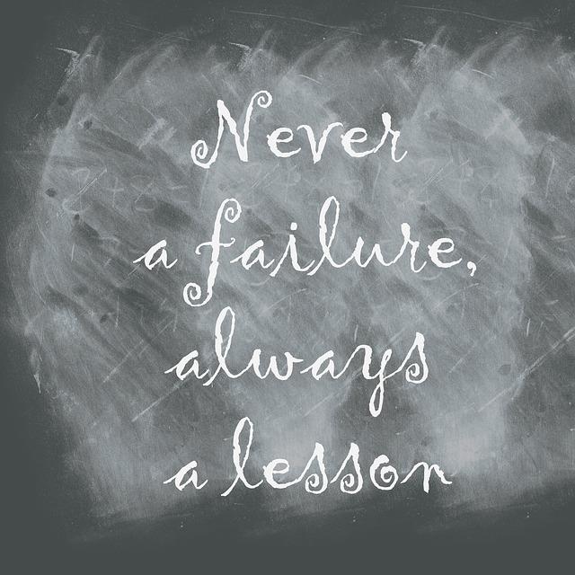 nikdy selhání vždy lekce