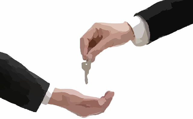 předání klíče